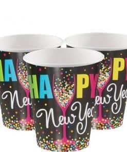 Confetti New Year Paper Cups