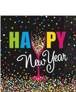Confetti New Year Luncheon Paper Napkins