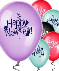Happy New Year Balloons - Assorted Colours