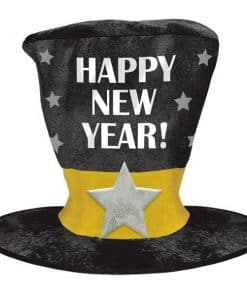 """Happy New Year!"" Over Sized Top Hat"