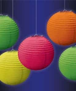 Glow in the Dark Neon Mini Lanterns