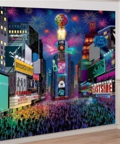 Times Square Deluxe New Year Wall Decoration Kit