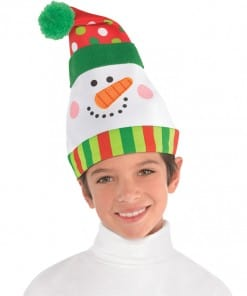 Christmas Whimsical Snowman Hat