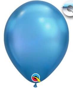 Chrome Blue Latex Balloons