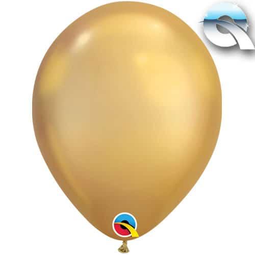 Chrome Gold Latex Balloon