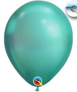 Chrome Green Latex Balloons
