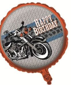 Motorbike Party Foil Balloon