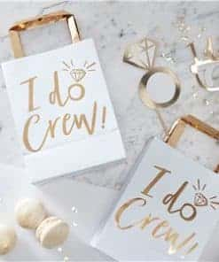 I Do Crew - Gold Foil Party Bags