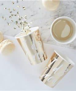 I Do Crew - Gold Foiled I Do Crew Paper Cups