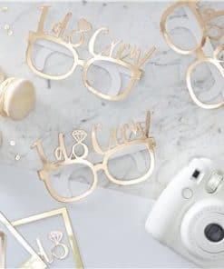 I Do Crew - Gold Foiled I Do Novelty Glasses