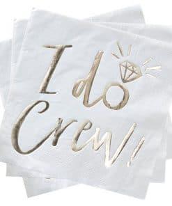 I Do Crew I Do Crew! Foiled Paper Napkins 1