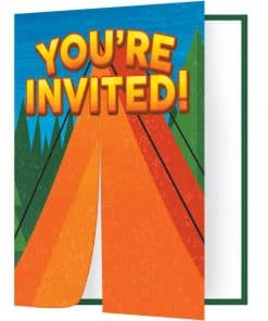 Camp Out Party Invites