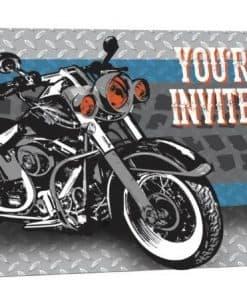 Motorbike Party Invites