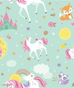 Magical Unicorn Party Wrapping Paper Roll