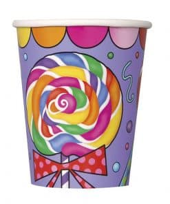 Paper Candy Themed Party Cups
