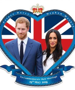 Prince Harry & Meghan Wedding Flags & Novelties for a street party or afternoon tea - wedding may 19th