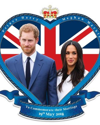 Wedding Commemoration Wall Cut Out Prince Harry & Meghan Markle