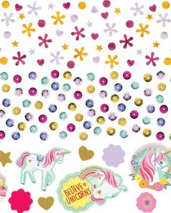 Magical Unicorn Party Table Confetti