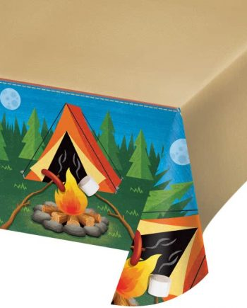 Camp Out Party Plastic Tablecover