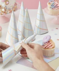 Make A Wish Unicorn Party Unicorn Horn Shaped Paper Napkins