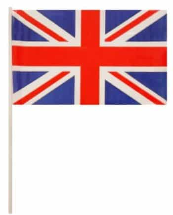 Union Jack Plastic Waving Flags