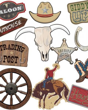 Western Party Card Cutout Decorations