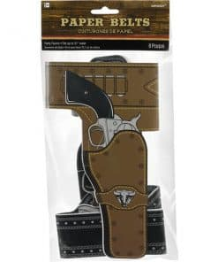 Western Party Paper Cowboy Belts