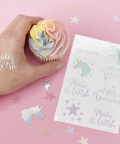 Make A Wish Unicorn Party Temporary Tattoos