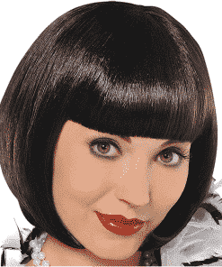 20's Flapper Adult Black Wig