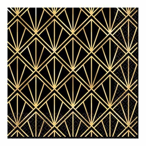 Hollywood Party Metallic Paper Lunch Napkins