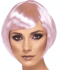 Babe Bob Adult Pink Wig