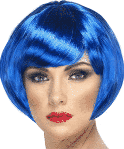 Babe Bob Adult Blue Wig