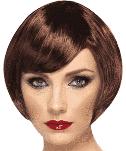Babe Bob Adult Brown Wig
