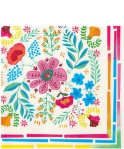 Boho Floral Party Paper Napkins