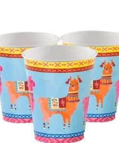Boho Llama Party Paper Cups
