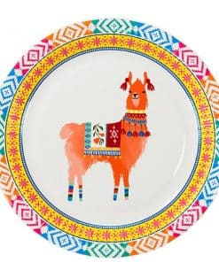 Boho Llama Party Paper Plates