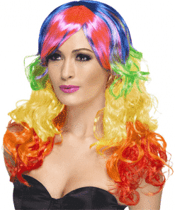Curly Rainbow Adult Wig