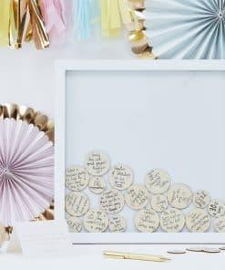 Pick & Mix Pastel Drop Top Frame Guest Book