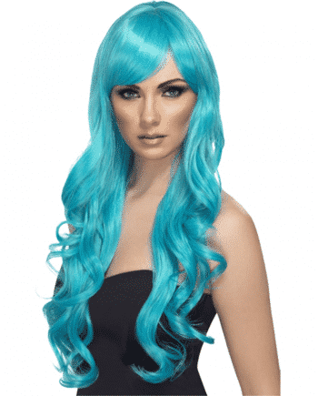 Desire Long Curly Turquoise Wig