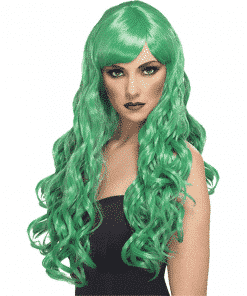 Desire Long Curly Wig - Green
