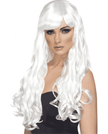 Desire Long Curly Wig - White