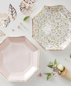 Ditsy Floral Rose Paper Plates