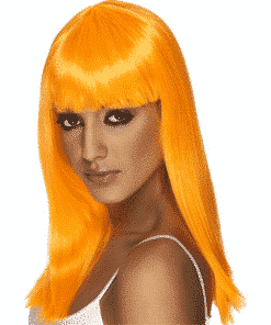 Glamourama Adult Neon Orange Wig