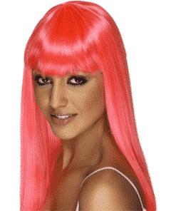 Glamourama Adult Neon Pink Wig