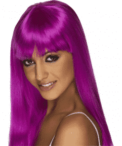Glamourama Adult Neon Purple Wig