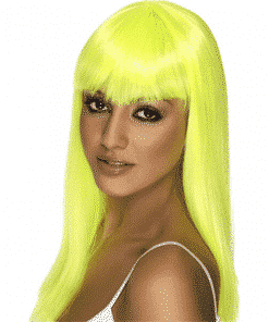 Glamourama Adult Neon Yellow Wig