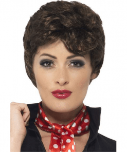 Grease Rizzo Brown Adult Wig