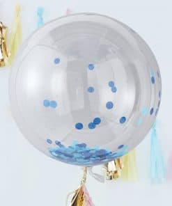 Pick & Mix Pastel Blue Confetti Giant Balloon