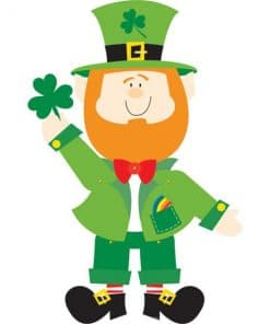 Leprechaun Jointed Cutout