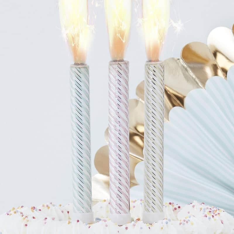 PASTEL AND GOLD FOILED STRIPE CAKE FOUNTAINS 1
